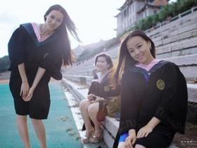 大学美女唯美毕业照
