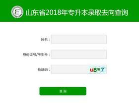 山东2018年专升本考试成绩开放查询 附平行志愿投档情况统计表