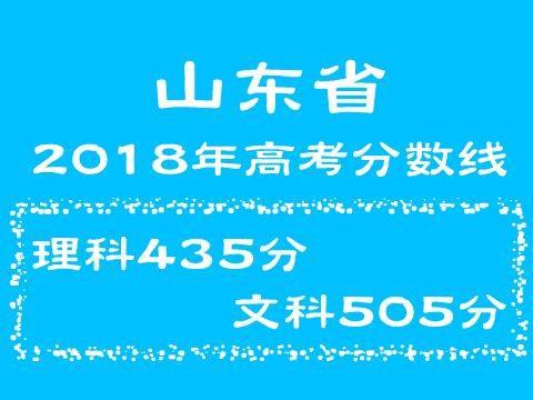 018年山东省高考分数线:文科505分