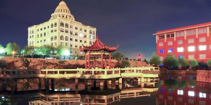 青岛滨海学院夜景