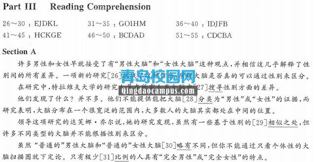 2016年12月大学英语四级真题(CET4)答案和解析下载