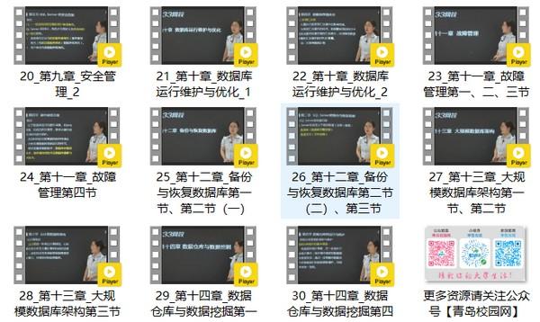 2019年全国计算机等级考试三级数据库技术学习视频