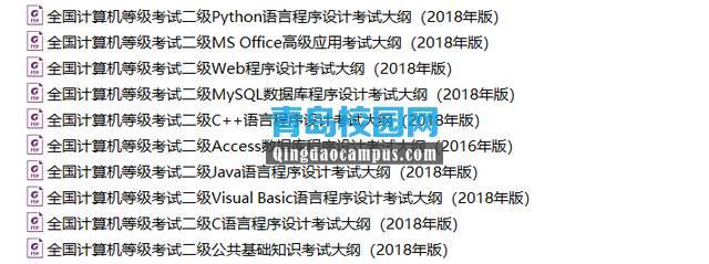 2019年全国计算机二级等级考试大纲