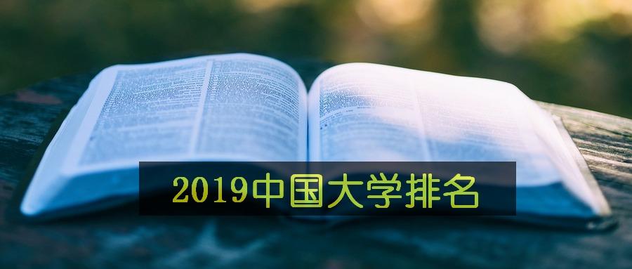 2019年中国大学排名