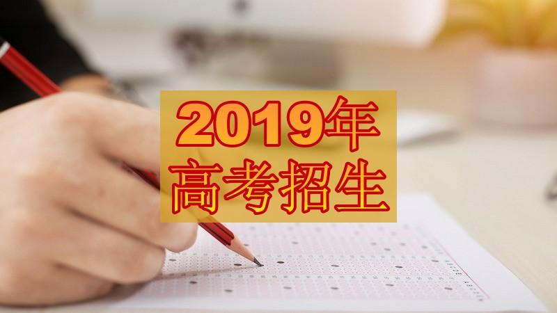 2019年山东省普通高等学校考试招生报名