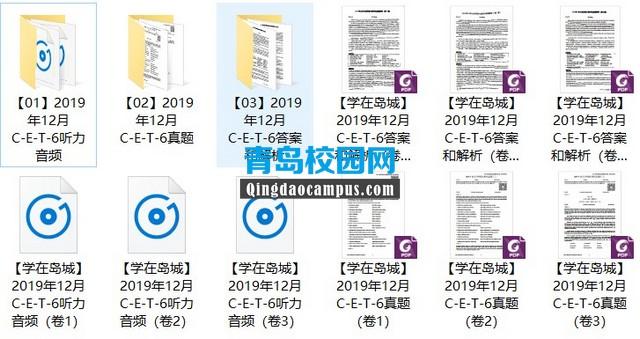 2019年12月大学英语六级(CET6)真题和解析下载